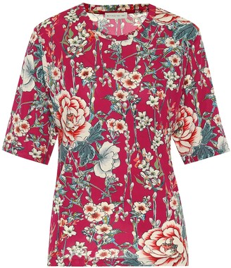Etro Floral jersey-crepe T-shirt