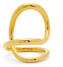 Charlotte Chesnais Ribbon 18kt Gold-plated Sterling-silver Ring - Gold