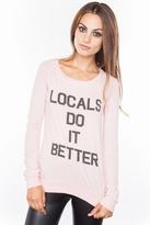 Local Celebrity Locals Do It Kira Long Sleeve Top in Ballet Pink