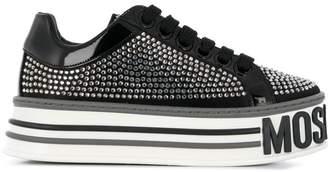Moschino rhinestone platform sneakers