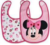 Baby Essentials Disney Minnie Mouse 2 Pack Terry Bibs