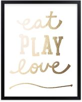Pottery Barn Kids Eat. Play. Love. Wall Art by Minted(R) 8x10