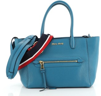 Miu Miu Madras Front Zip Tote Leather Medium