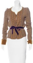 Etro Embellished Wool-Blend Cardigan