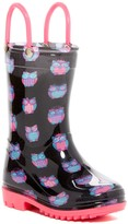 Capelli of New York Shiny Accessory Owl Rain Boot (Toddler)