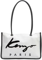Kenzo Logo Nylon & Cotton Canvas Tote Bag