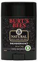 Burt's Bees 100% Natural Skin Care for Men Deodorant, 2.6 Ounces, Pack of 3