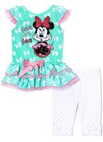 Children's Apparel Network Mint & Pink Minnie Mouse Dress & Leggings - Infant