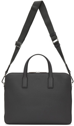 HUGO BOSS Boss Grey Double Document Briefcase