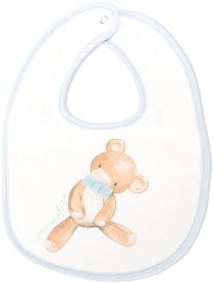 MonnaLisa Teddy Bear print bib
