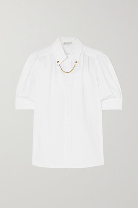 Givenchy Embellished Cotton-poplin Blouse - White