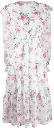 Philosophy di Lorenzo Serafini floral long-sleeve midi dress