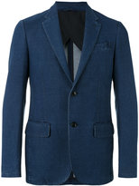 Ermenegildo Zegna chambray two-button jacket - men - Cotton/Polyester - 48