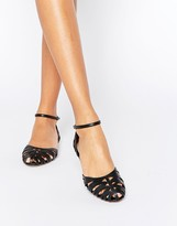 Head Over Heels By Dune Haidyn Black Cut Out Flat Shoes
