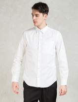 Opening Ceremony White Powell Poplin Zip Pocket Slim Shirt