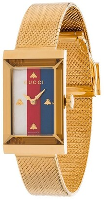 Gucci rectangle stripe face watch