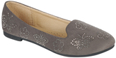 Gray Floral Jewel-Accent Flexible Loafer