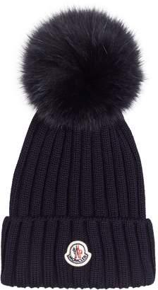 Moncler Fox Fur Beanie Hat