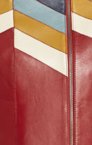 BCBGMAXAZRIA Cal Color-Blocked Moto Jacket