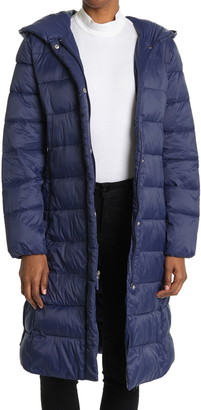 Cole Haan Woven Nylon Puffer Coat