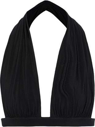 Norma Kamali Ruched Halterneck Bikini Top