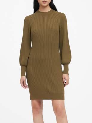 Banana Republic Puff-Sleeve Sweater Dress