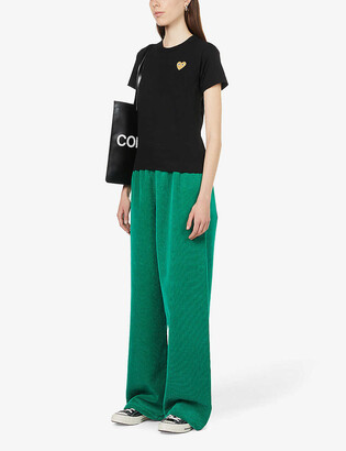 Comme des Garcons Gold heart-embroidered cotton-jersey T-shirt