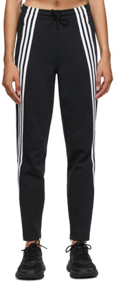 adidas Black 3-Stripes Double Knit Lounge Pants
