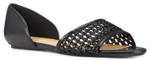Nine West Bey Woven Open-Toe Flats Women's Shoes