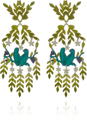 We Dream In Colour Paradise Lost Brass Earrings