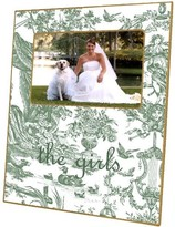 The Well Appointed House Sage Toile Decoupage Photo Frame-Can Be Personalized