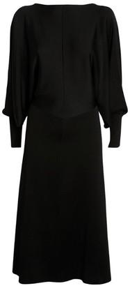 Victoria Beckham Draped Open-Back Midi Dress