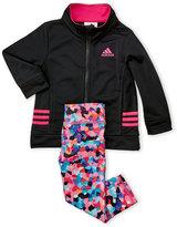 adidas Infant Girls) Two-Piece Track Jacket & Printed Leggings Set