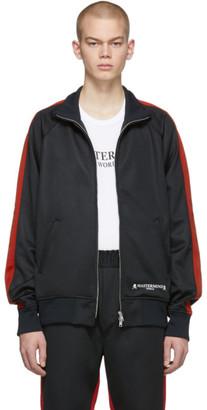 mastermind WORLD Black and Red Side Line Track Jacket
