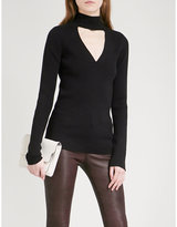 Paige Jeanie cutout knitted jumper