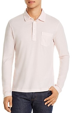 Billy Reid Pensacola Cotton Long-Sleeve Polo Shirt