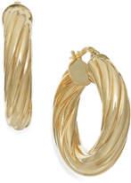 Macy's Twist Hoop Earrings in Italian 14k Gold