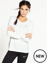 Nike Running Dry Miler Long Sleeve Top - White