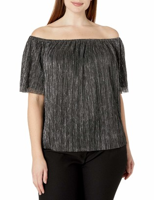 Rachel Roy Women's Plus Size Raw Edge Top