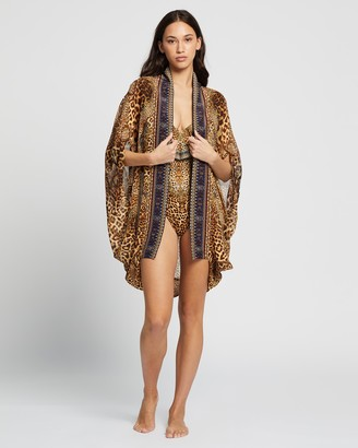 Camilla Women's Brown Capes - Open Front Cardi Cape - Size One size at The Iconic