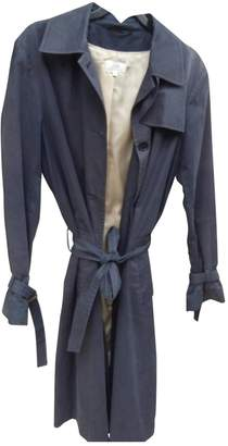 Gerard Darel Blue Cotton Trench Coat for Women