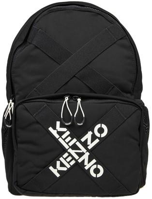Kenzo Backpack In Black Fabric