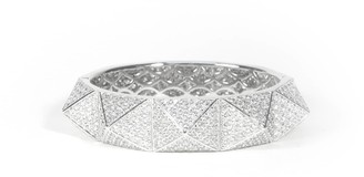 Matara Pyramid Bangle White Gold