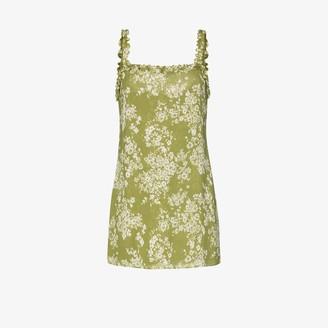 Reformation Eletta floral print mini dress