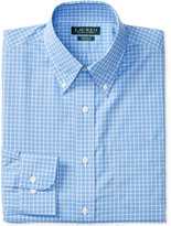 Lauren Ralph Lauren Men's Classic-Fit Non-Iron Blue White Check Dress Shirt