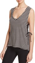 Pam & Gela Striped Lace-Up Tank