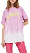 Topshop Women's By And Finally Metallica Ombre Tee