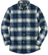 Vineyard Vines Boys' Flannel Whale Shirt
