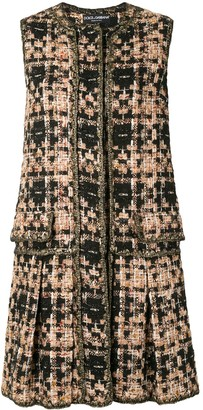 Dolce & Gabbana Sleeveless Tweed Jacket