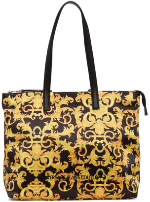 Versace Jeans Couture Black Baroque Shopping Tote